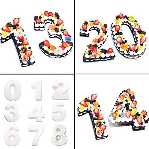 - Cake Molds - 0 9 Cakes Plastic Alphabet Number Cake Molds Mould Decorating Fondant - Lamb Round Mermaid Healthy Sets Metal Heart Decorating Kids Baby Pans Ring Animal Baking Rectangle Circle C