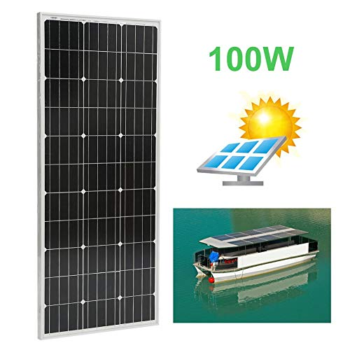 Peppydazi Moncrystalline Solar Panel Module 100W Boat Car Solar Battery Charger by Peppydazi (Image #2)
