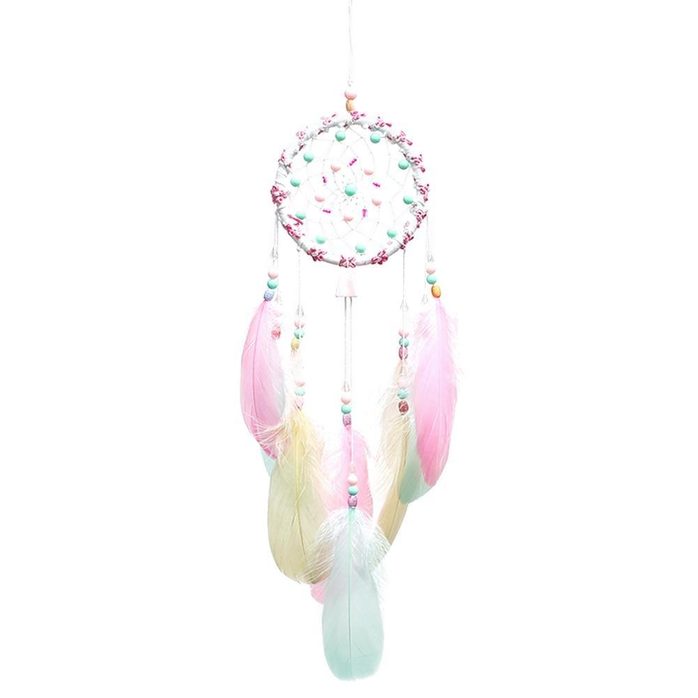 Atrapasue/ños de Plumas Rosas Prosperveil decoraci/ón para el hogar y el Coche dise/ño de atrapasue/ños