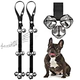 2 PACK Dog Doorbells Premium Quality Training Great Dog Bells Adjustable Door Bell Dog Bells for Potty Training Your Puppy the Way - Premium Quality - 7 Extra Large Loud 1.4