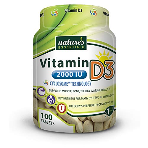 Liposomal Vitamin D3 | 2000IU | + Cyclodextrin | Nature's Essentials | Maximum Absorption Formula | 3 Month Supply | NON-GMO | Gluten-free | Vegetarian | Lab Certified | USA ()
