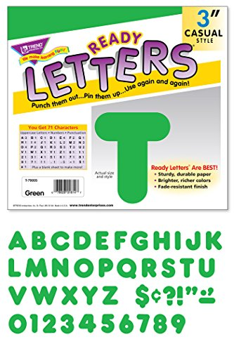 "TREND enterprises, Inc. Green 3"" Casual Uppercase Ready Letters -  T-79005"