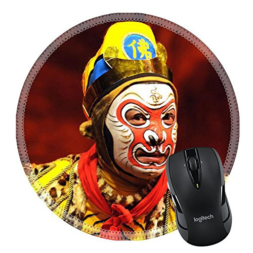 [MSD Natural Rubber Mousepad Round Mouse Pad/Mat: 6825880 china Opera Monkey King] (China Cultural Costume)