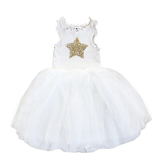 ba094162b Amazon.com: Petite Hailey PH Star Tutu Dress Color Ivory Size 1T ...