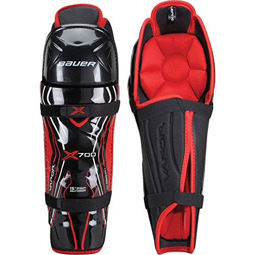 Bauer Vapor X700 Shin Guard - Sr Black, - Guard Shin Sg
