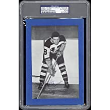 1934-44 Beehive Bobby Bauer (Boston Bruins) Autographed/Signed RARE - PSA/DNA Certified - Hockey Slabbed Autographed Cards