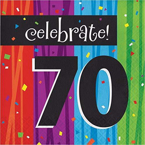 Milestone Celebrations 70th Birthday Napkins, 48 ct