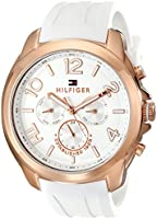 Tommy Hilfiger Women's 1781388 Analog Display Quartz Watch, White