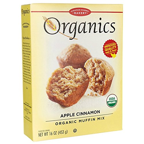 Organic Muffin Mix (European Gourmet Bakery Organics Muffin Mix - Apple Cinnamon 16 oz (453 grams) Pkg)