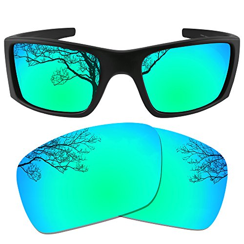 53720c8ccb Dynamix Polarized Replacement Lenses for Oakley Fuel Cell - Multiple  Options (Emerald Green + Ice