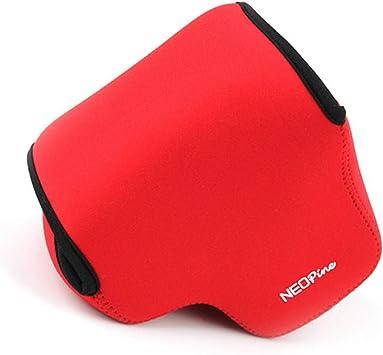 Rojo Funda Camara de Fotos Digital Camara Reflex Neopreno Estuche para Sony Cyber-Shot DSC HX400V HX400 HX350 HX300: Amazon.es: Electrónica
