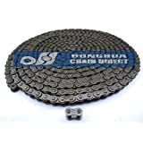 Donghua® #25 Roller Chain 10 Ft (480 Links), With 1 Connecting/ Master Link, Sports Utility Bike/Vehicle Chain Replacement