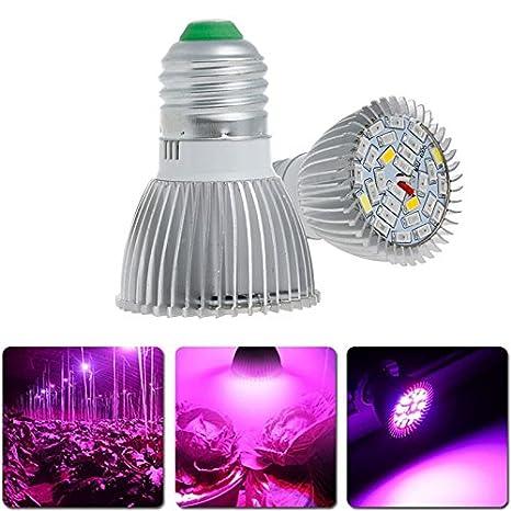 openuye 4 unidades 28 W espectro completo Led Grow Light Bombilla E27 luces de efecto invernadero planta de resistente al agua luz para cultivos ...