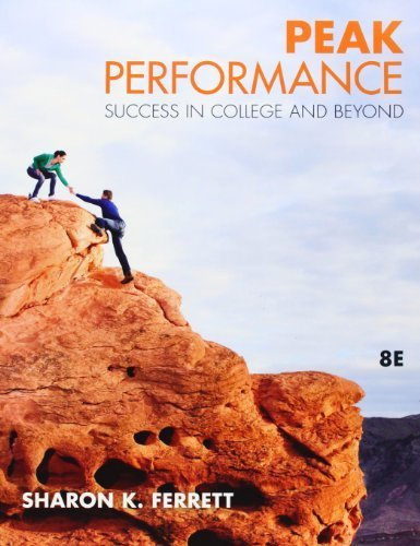 Read Online Peak Performance: Success in College and Beyond 8th (eighth) by Ferrett, Sharon (2011) Paperback Text fb2 book