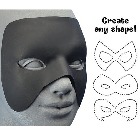 Woochie Hero Mask - Professional Quality Halloween Costume Accessories - Black