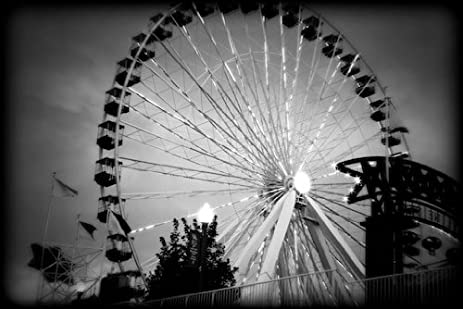 Navy pier chicago black and white print chbw3970 4x6