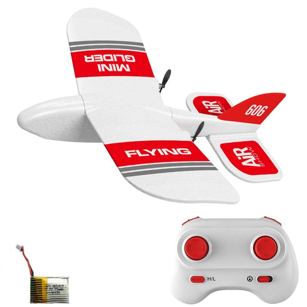 Ceepko KF606 Remote Glider, Remote Control Toy Airplane, Epp Foam Material, Anti-Fall, Good Flexibility, Children's Birthday Gift, Suitable for Outdoor, Indoor Gyroscope Gliding Aircraft by Ceepko