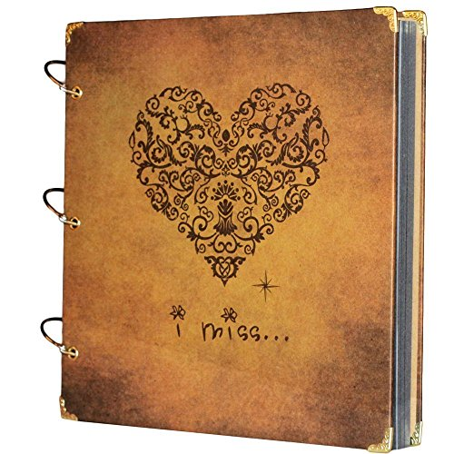 SiCoHome Scrapbook 10 5x10inch Recording Guestbook