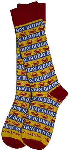 Old Bay Seafood Seasoning Striped Dress Socks (Medium 5/10)