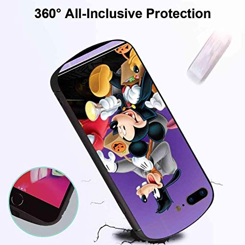 DISNEY COLLECTION Case Compatible for iPhone 7 Plus or iPhone 8 Plus (5.5in) Halloween Mickey Mouse and Minnie Mouse Goofy Donald Duck Pluto Disney Halloween -