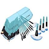 Vander Synthetic Kabuki Foundation Blending Makeup Brushes Kit with Bag - Blue