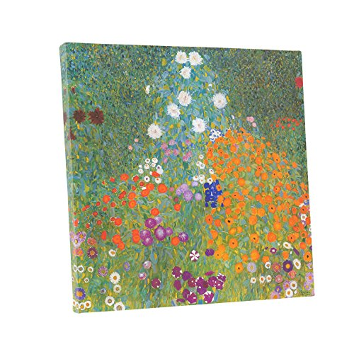 Gustav Klimt Reproductions - Niwo ART (TM) - Bauerngarten Farm Garden, by Gustav Klimt, Oil painting Reproduction - Giclee Wall Art for Home Decor, Gallery Wrapped, Stretched, Framed Ready to Hang (18