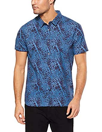 Mossimo Men's Banksia SS Shirt, Navy(Blue), XS(X-Small)