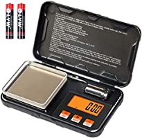 Digital Scale 200g x 0.01g Gram Scale with Pocket Size, 50g calibration weight,6 Units Conversion, LCD Back-Lit Display...