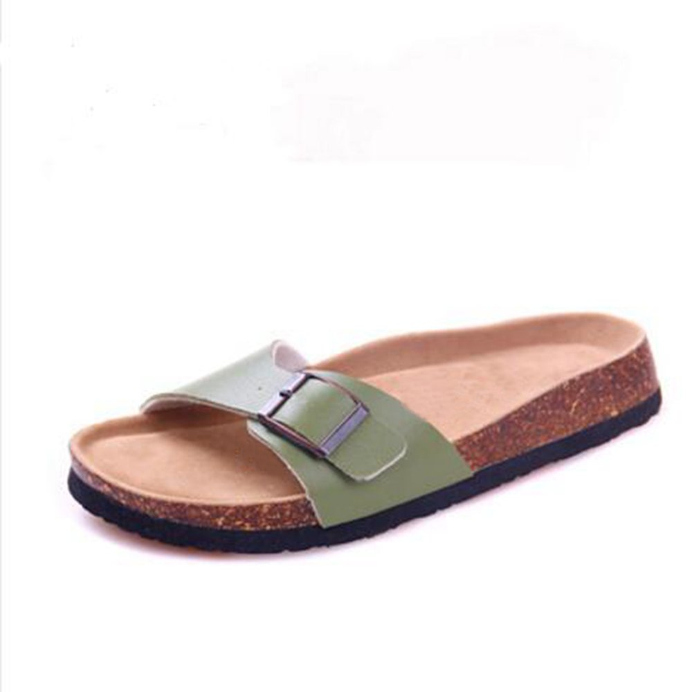 timeless design 068a7 f0aaa YaMiFan Women s Slide Flat Flat Flat Sandals with Adjustable Strap Buckle  Open Toe Slippers B07FJYBWKQ 10