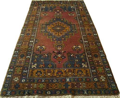 Vintage Handwoven Area Rug Carpet 8.10 x 4.10 ft.