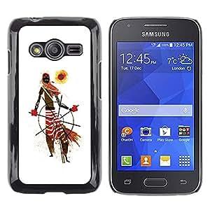 Be Good Phone Accessory // Dura Cáscara cubierta Protectora Caso Carcasa Funda de Protección para Samsung Galaxy Ace 4 G313 SM-G313F // African Tribal Man Art Scarf Pattern Sun