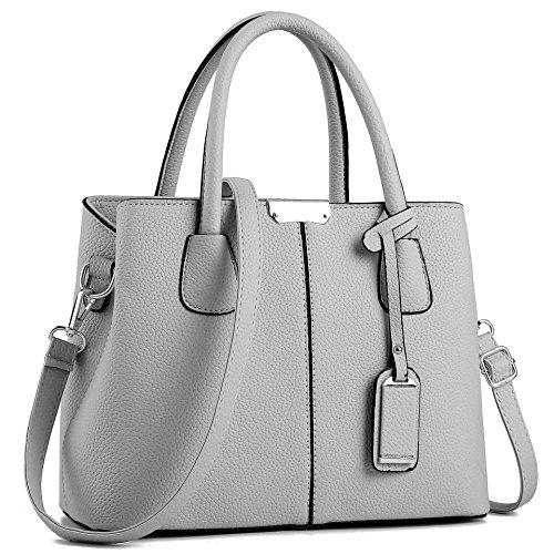 CYHTWSDJ Womens Purses and Handbags Ladies Designer Satchel Tote Bag Shoulder Bags (grey 1) by CYHTWSDJ
