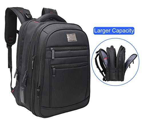 Price comparison product image CrossLandy Business Laptop Backpack for Men or Women, College Computer Travel Laptop Backpacks Fits Up to 15.6 Inch Laptop Black Bags,  Black