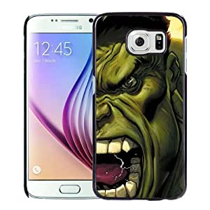 NEW Unique Custom Designed Samsung Galaxy S6 Phone Case With The Hulk Screaming Illustration_Black Phone Case
