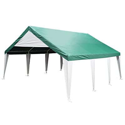King Canopy ET2020G 20-Feet by 20-Feet Event Tent Canopy, Green and White : Sun Shelters : Garden & Outdoor