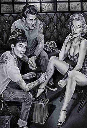 JAMES DEAN Audrey Hepburn Marilyn Monroe panneau m/étallique plaque m/étallique plaque vo/ût/é SIGNE en /étain m/étal 20 x 30 cm