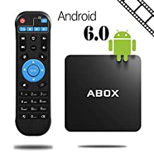 2017 Newest Model GooBang Doo ABOX A1 Android 6.0 Marshmallow TV Box 1GB/8GB, Amlogic S905X 64 Bits Quad Core and Supporting 4K (60Hz) Full HD /H.265 /WiFi 2.4GHz