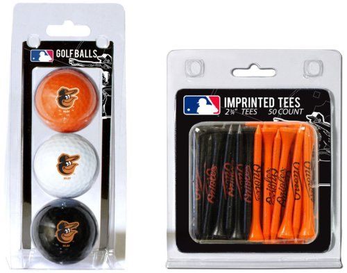 mlb-baltimore-orioles-3-golf-balls-and-50-golf-tees