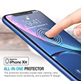 Maxboost Screen Protector Compatible Apple iPhone XR (6.1 Inch) (Clear, 3 Packs) 0.25mm iPhone XR Tempered Glass Screen Protector Advanced HD Clarity Work Most Case 99% Touch Accurate