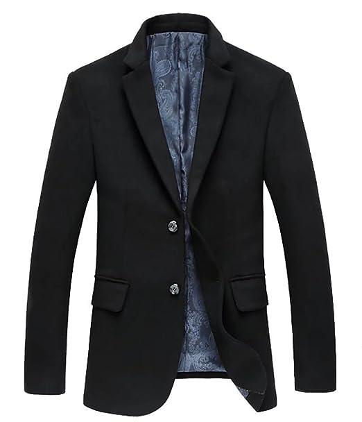 Hombres Blazer Chaquetas de Traje Business Lana Tweed Abrigos Casual Slim Fit Smart Formal Mens Jacket Coat: Amazon.es: Ropa y accesorios
