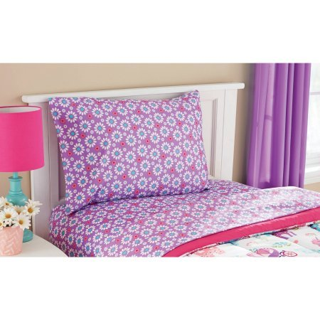 Mainstay* Kids Pretty Princess, Floral, Castle, Unicorns and Hearts Reversible Bedding