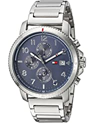 Tommy Hilfiger Mens Sport Quartz Stainless Steel Casual Watch, Color:Silver-Toned (Model: 1791360)
