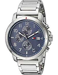Men's Casual Sport Quartz Watch with Stainless-Steel Strap, Tone, 0.8 (Model: 1791360)