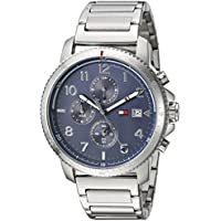 Tommy Hilfiger Men's Sport' Quartz Stainless Steel Casual Watch, Color:Silver-Toned (Model: 1791360)