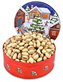 Fiddyment Farms Christmas Tin w/Salt Free In-Shell Pistachios