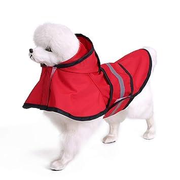 MALLTY Impermeable para Perros Perro Grande Perro Grande Impermeable para Mascotas Reflectante Ropa para Perros Impermeable Poncho: Amazon.es: Productos ...