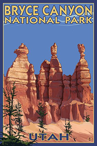Bryce Canyon National Park, Utah - Summer #2 (9x12 Art Print, Wall Decor Travel Poster)