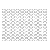 uxcell 100Pcs 20mmx28mmx2mm Aluminum Motorcycle Hardware Drain Plug Washer