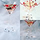 Valentines Day hearts martini glass