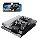 Nyko Modular Charge Station (New Version) Dual Port Controller Charging Station with Patented Charging Dongles for All PS4 , PS4 Slim and PS4 Pro
